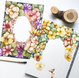26 Jan - Watercolor Floral Frame (Intermediate)