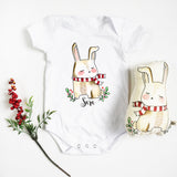 Christmas Bunny (Top & Plush Toy Set)