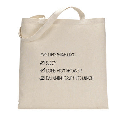Wish List Tote Bag