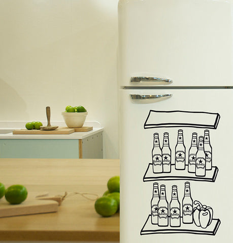 Vinilo decorativo - Beer fridge - Viniloestil