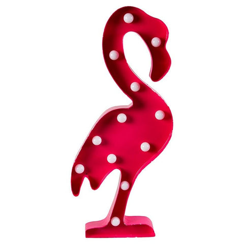 Decoración infantil con luz - Flamingo decorativo con bombillas led - Viniloestil