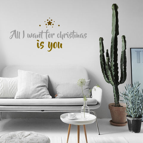 Vinilo Navidad All I want for Christmas is you - Viniloestil