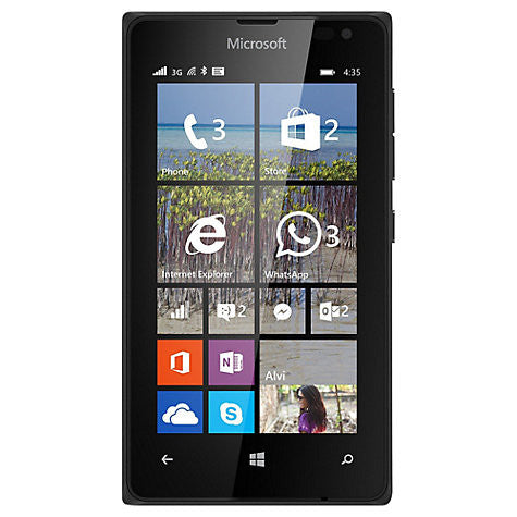 "Microsoft Lumia 435 Smartphone, Windows Mobile, 4"", 3G, SIM Free, 8GB, Black + Juice Cube, Emergency Mobile Charger, Green"