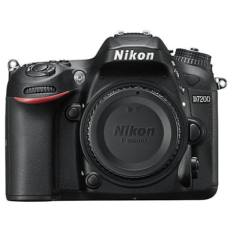 "Nikon D7200 DSLR Camera, 24.2 MP, HD 1080p, Built-in Wi-Fi, NFC, 3"" LCD Screen, Body Only"