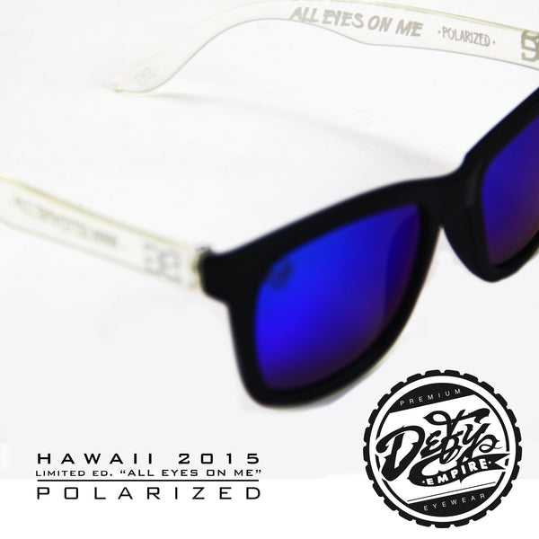 "HAWAII - ""ALL EYES ON ME"" MATTE BLACK/BLUE POLARIZED"