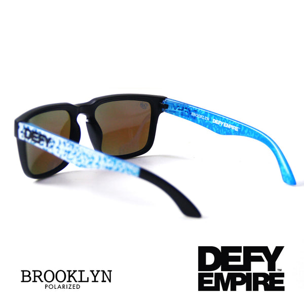 BROOKLYN - MATTE BLACK FRAME/ICE BLUE POLARIZED LENSES
