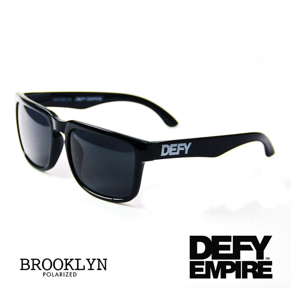 BROOKLYN - GLOSS BLACK FRAME/GREY POLARIZED LENSES SUNGLASS