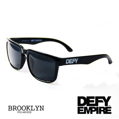 BROOKLYN - GLOSS BLACK FRAME/GREY POLARIZED LENSES