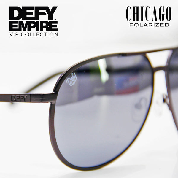CHICAGO - GUN METAL GREY / SILVER MIRROR POLARIZED