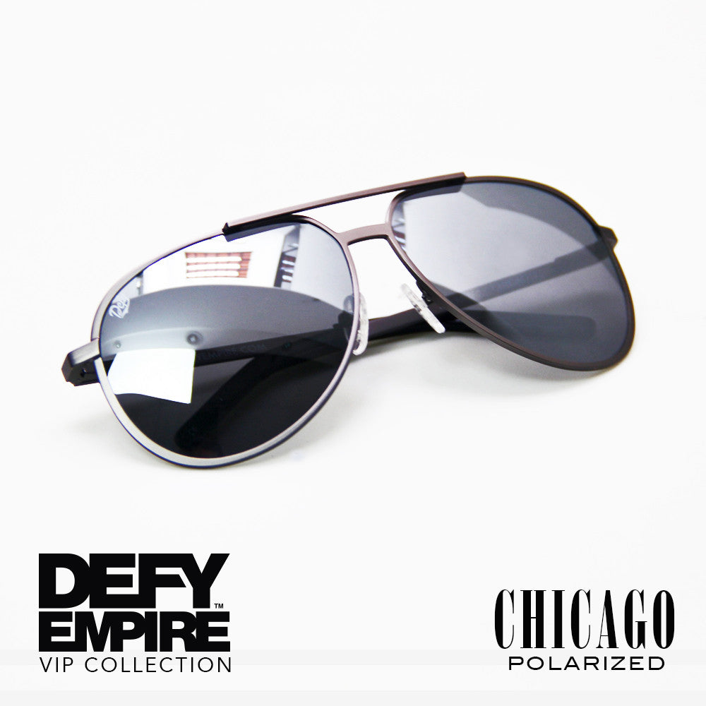 CHICAGO - GUN METAL GREY / SILVER MIRROR POLARIZED HIGH DEFINITION LENSES