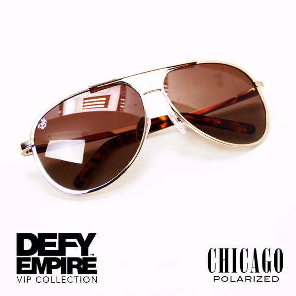 CHICAGO - GOLD / BRONZE GRADIENT  POLARIZED HIGH DEFINITION LENSES