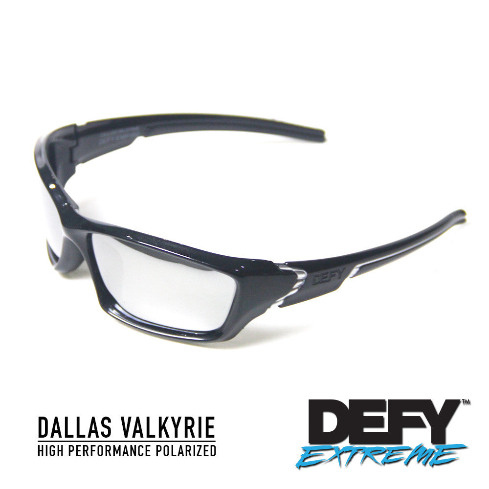 DALLAS VALKYRIE METALLIC BLACK/SILVER POLARIZED SUNGLASS