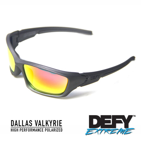 DALLAS VALKYRIE GUN METAL/RED POLARIZED