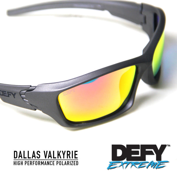 DALLAS VALKYRIE GUN METAL/RED POLARIZED SUNGLASS