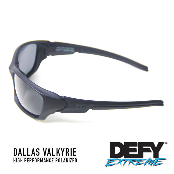 DALLAS VALKYRIE MATTE BLACK/GREY POLARIZED SUNGLASS