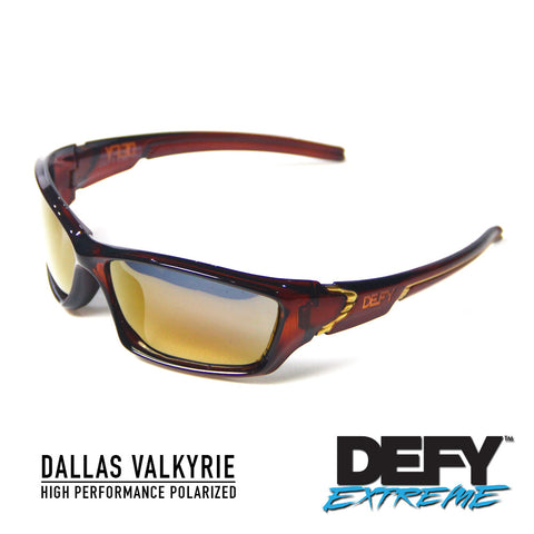 DALLAS VALKYRIE ROOTBEER/GOLD POLARIZED SUNGLASS