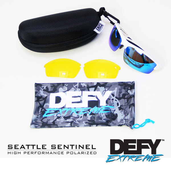SEATTLE SENTINEL WHITE/BLUE POLARIZED