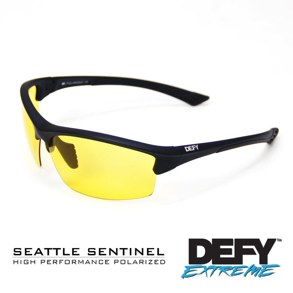 SEATTLE SENTINEL BLACK CLEAR/SILVER POLARIZED SUNGLASS