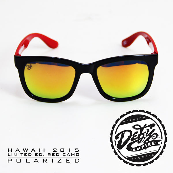 |LIMITED ED| HAWAII RED CAMO GLOSS BLACK/RED POLARIZED