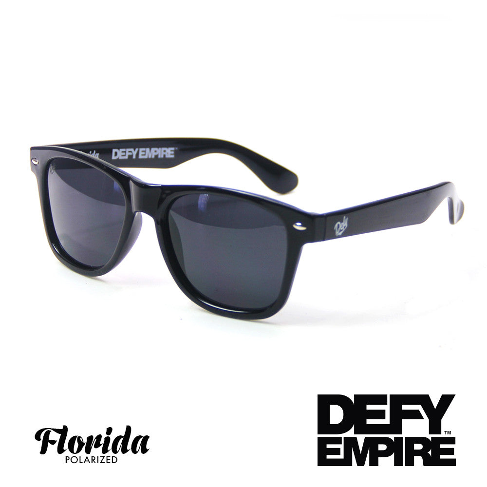 FLORIDA - GLOSS BLACK / GREY POLARIZED SUNGLASS