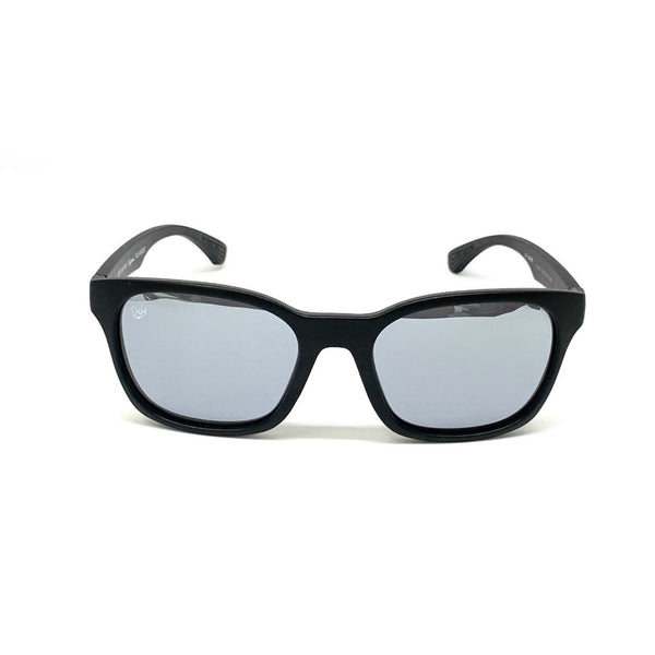 DAYTONA - MATTE BLACK FRAME/SILVER MIRROR POLARIZED LENSES SUNGLASS