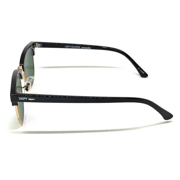 MEMPHIS - GLOSS BLACK FRAME/GREY GREEN LENSES SUNGLASS