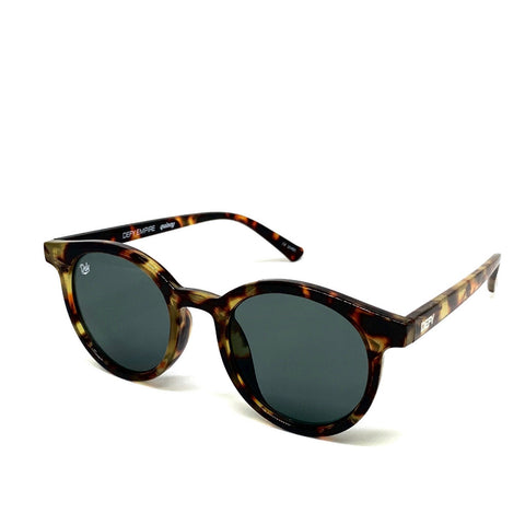 QUINCY - TORTOISE FRAME / GREY GREEN LENSES SUNGLASS