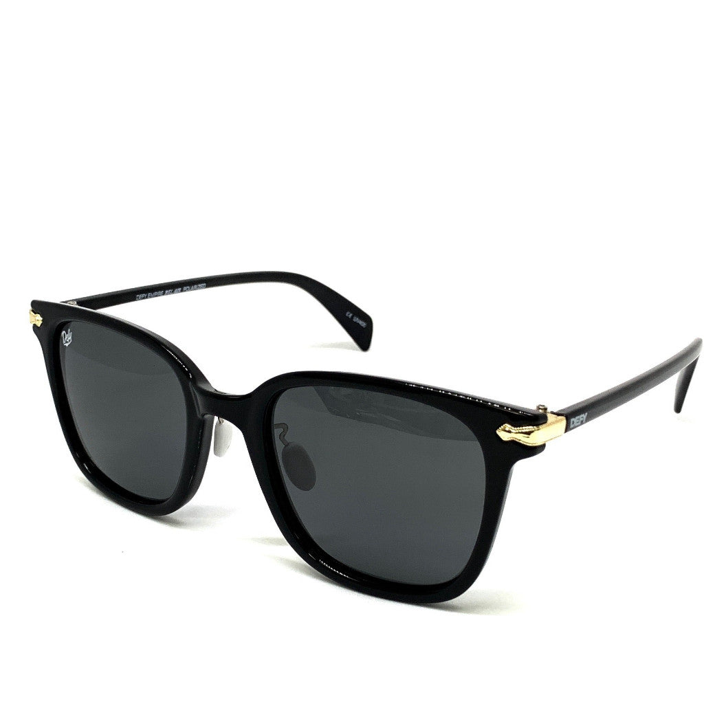 BEL AIR - GLOSS BLACK FRAME/GREY POLARIZED LENSES SUNGLASS