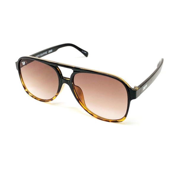 MIAMI - GLOSS BLACK TORTOISE FRAME/BRONZE GRADIENT LENSES SUNGLASS