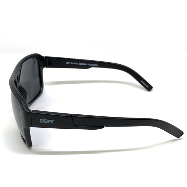 COMPTON - MATTE BLACK FRAME/GREY POLARIZED LENSES SUNGLASS