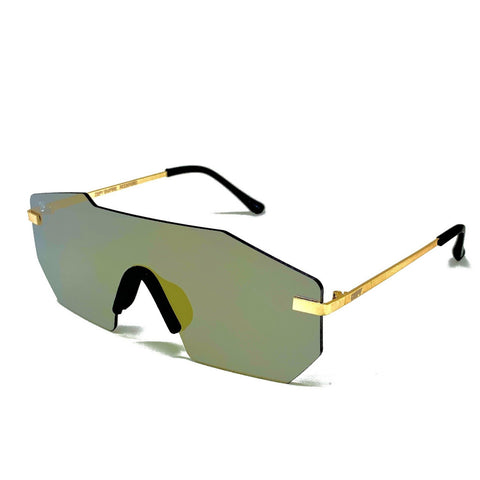 ROCKFORD -PLATINUM FRAME / GOLD MIRROR LENSES