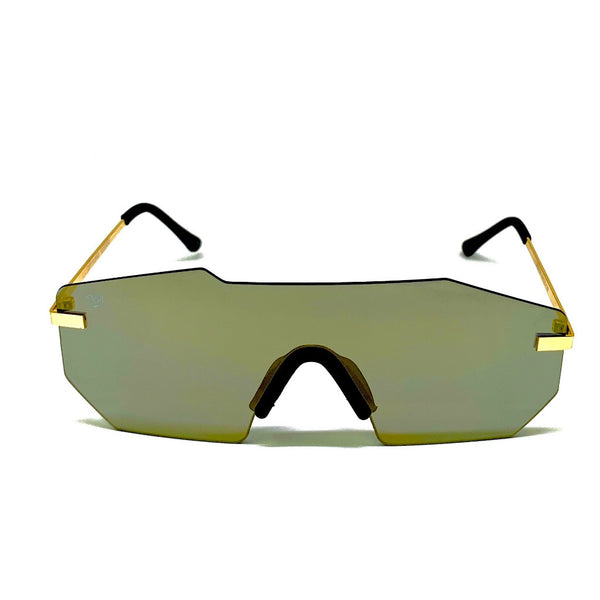 ROCKFORD -PLATINUM FRAME / GOLD MIRROR LENSES SUNGLASS