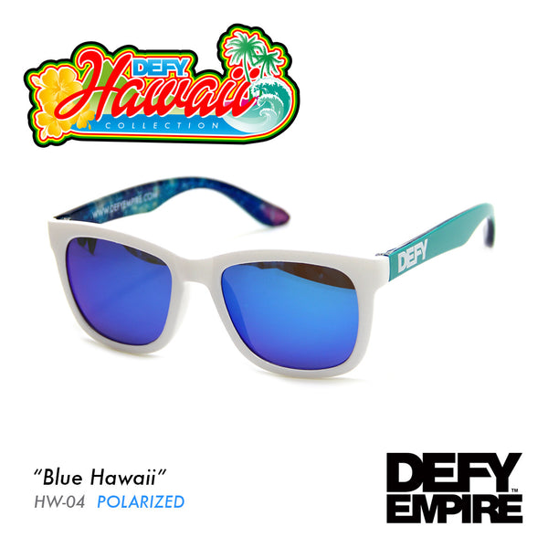 HAWAII - BLUE HAWAII GLOSS WHITE / BLUE POLARIZED SUNGLASS