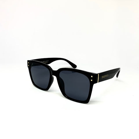 DEFY / PRIVATA KENJI LIMITED EDITION SECOND EDITION - GLOSS BLACK FRAME/DARK GREY POLARIZED LENSES LUXURY SUNGLASS