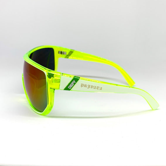 DEFY / PRIVATA EL GANADOR LIMITED EDITION - ACID LIME FREEZE FRAME/BURNT BLUE TITANIUM SUNGLASS