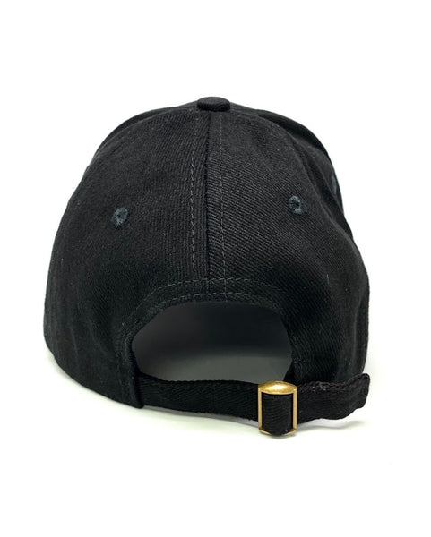 QUINCY PREMIUM POMADE BASEBALL CAP HAT IN BLACK