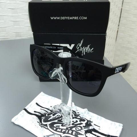 CUSTOMIZED HAWAII - THE DARK KNIGHT MATTE/GLOSS BLACK / GREY POLARIZED SUNGLASS LIMITED STOCK
