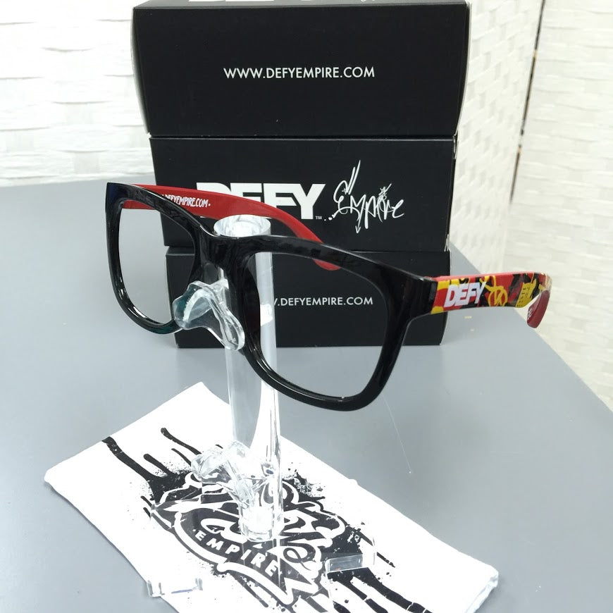 |LIMITED ED| HAWAII RED CAMO GLOSS BLACK NO LENSES - SPECTACLES