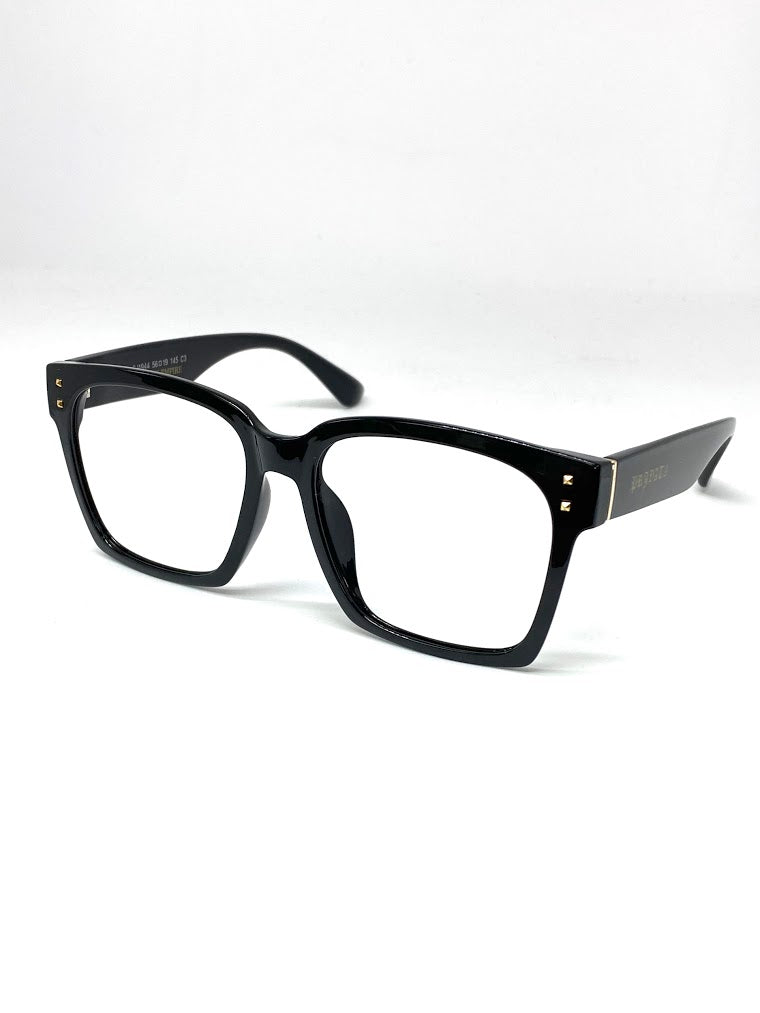 DEFY / PRIVATA KENJI LIMITED EDITION - GLOSS BLACK FRAME ONLY NO LENSES LUXURY PRESCRIPTION FRAME