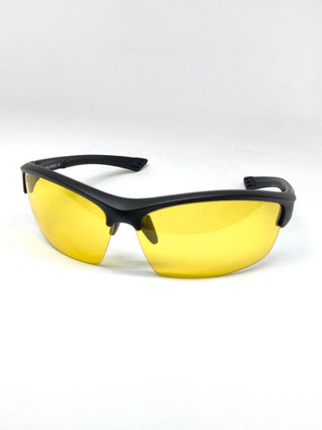 SEATTLE SENTINEL MATTE BLACK  BLUE LIGHT FILTER GLASSES CLEAR YELLOW LENSES