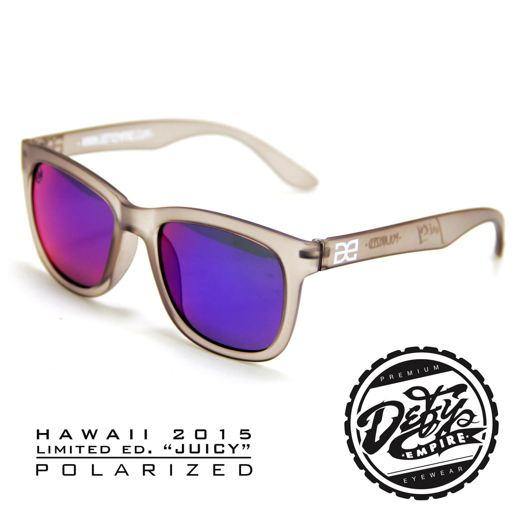 "HAWAII - ""JUICY"" FROSTED GREY/BLUE-RED POLARIZED"