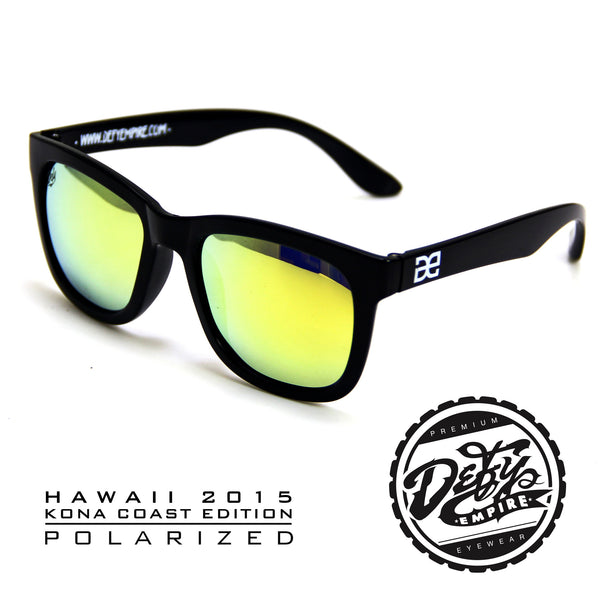 "HAWAII - ""KONA COAST"" GLOSS BLACK/GOLD POLARIZED"