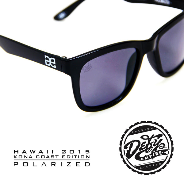 "HAWAII - ""KONA COAST"" GLOSS BLACK/GREY POLARIZED"