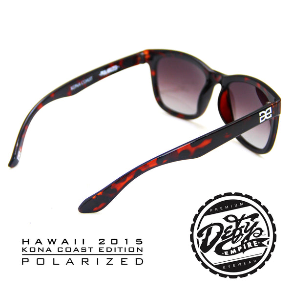 "HAWAII - ""KONA COAST"" DARK TORTOISE SHELL/GREY POLARIZED"