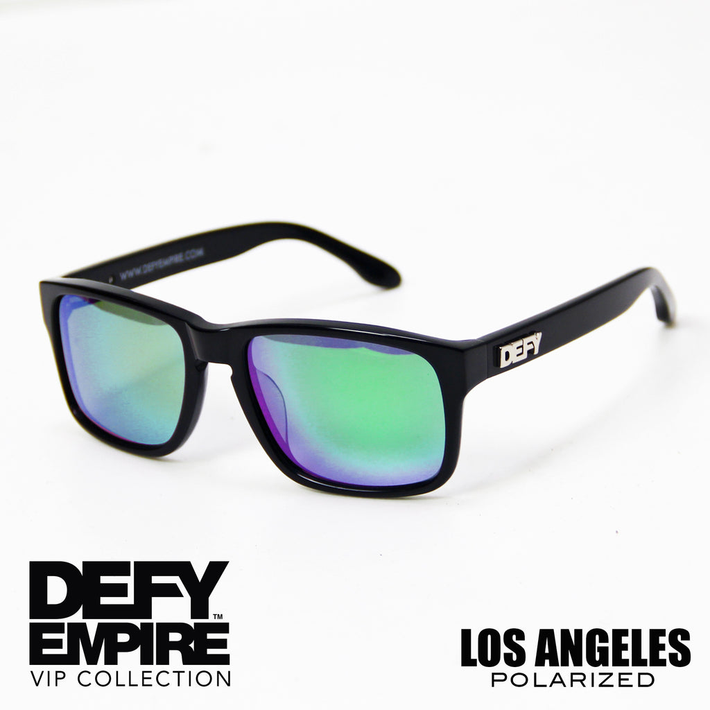 LOS ANGELES - GLOSS BLACK / GREEN POLARIZED