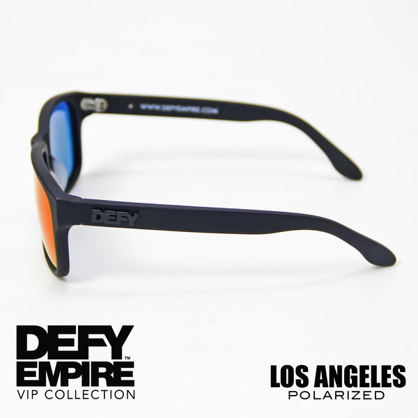 LOS ANGELES - MATTE BLACK / RED POLARIZED