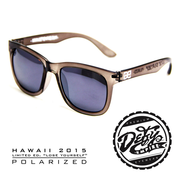 "HAWAII - ""LOSE YOURSELF"" BLACK CLEAR/SILVER POLARIZED SUNGLASS"