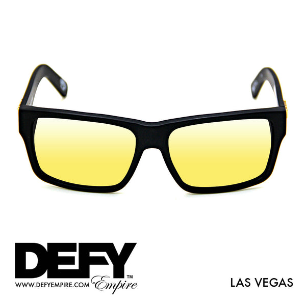 LAS VEGAS MATTE BLACK / GOLD POLARIZED SUNGLASS