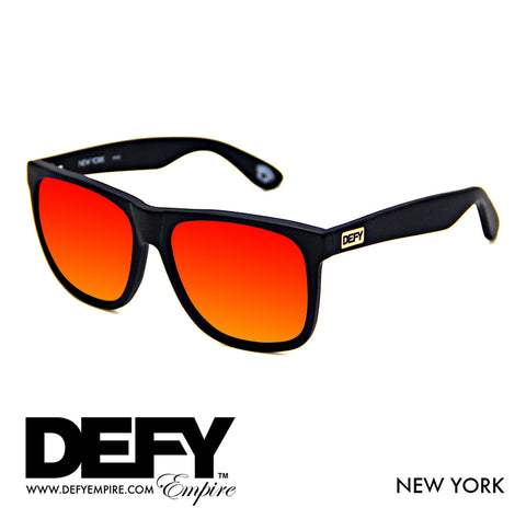 NEW YORK MATTE BLACK / SUNSET RED POLARIZED