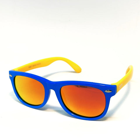 FLORIDA KIDS - GLOSS BLUE YELLOW / RED MIRROR POLARIZED SUNGLASS